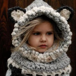 Other - NWT. Pullover Bear Crochet Hat.